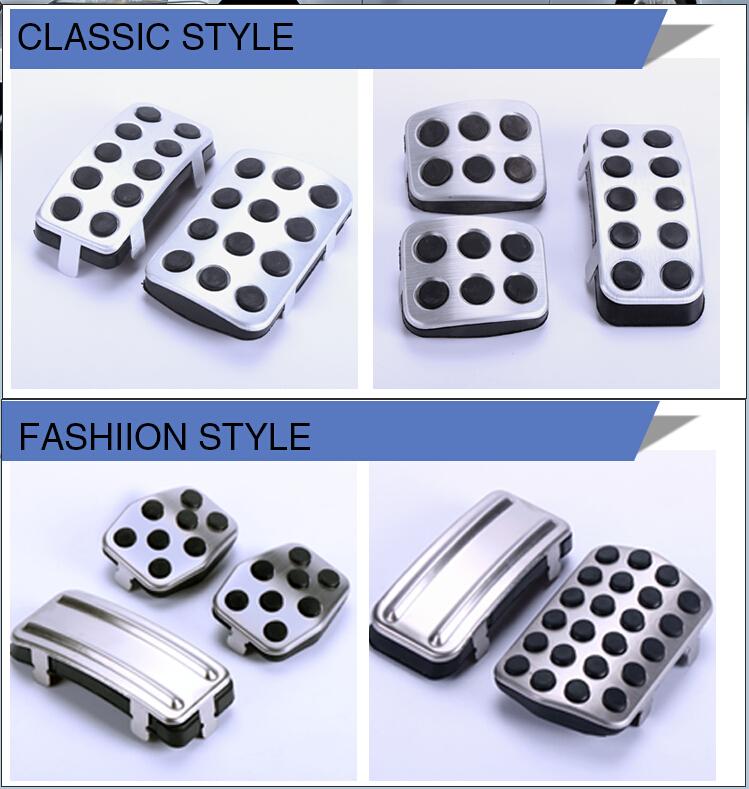 Stainless steel Car Pedal Pads Cover MT AT for Ford Focus 2 focus 3 RS ST 2005-2011 2012 2013,auto accessories(China (Mainland))