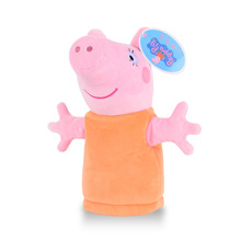 1pcs Peppa Pig Family Hand Puppets Plush Toy Glove Puppet Appease Doll Kids Gift(China (Mainland))