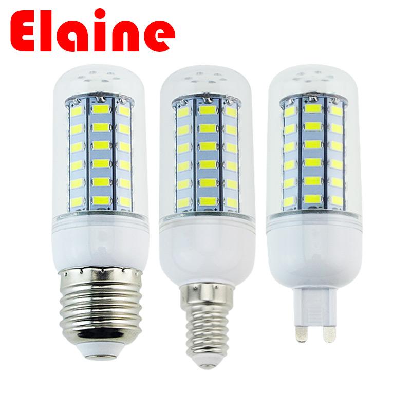Гаджет  Newest bombillas led E14 E27 5730 LED corn bulb lamp AC220V 7W 12W 15W 18W 20W 25W 30W 35W lampada led spot light Smart IC power None Свет и освещение