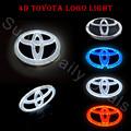 Novelty Light Auto Toyota emblem Badge Sticker Lamp LED Cold Light for Toyota VIOS YARIS RAV4