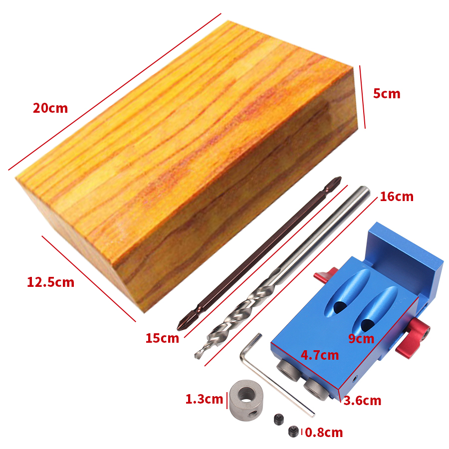 New Mini Kreg Style Pocket Hole Jig Kit System For Wood Working & Joinery + Step Drill Bit & Accessories Wood Work Tool Set(China (Mainland))