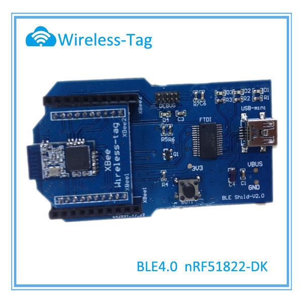 Wireless-Tag wireless module nRF51822 chip BLE 4.0 bluetooth module development board for nRF51822-01/02/04(China (Mainland))