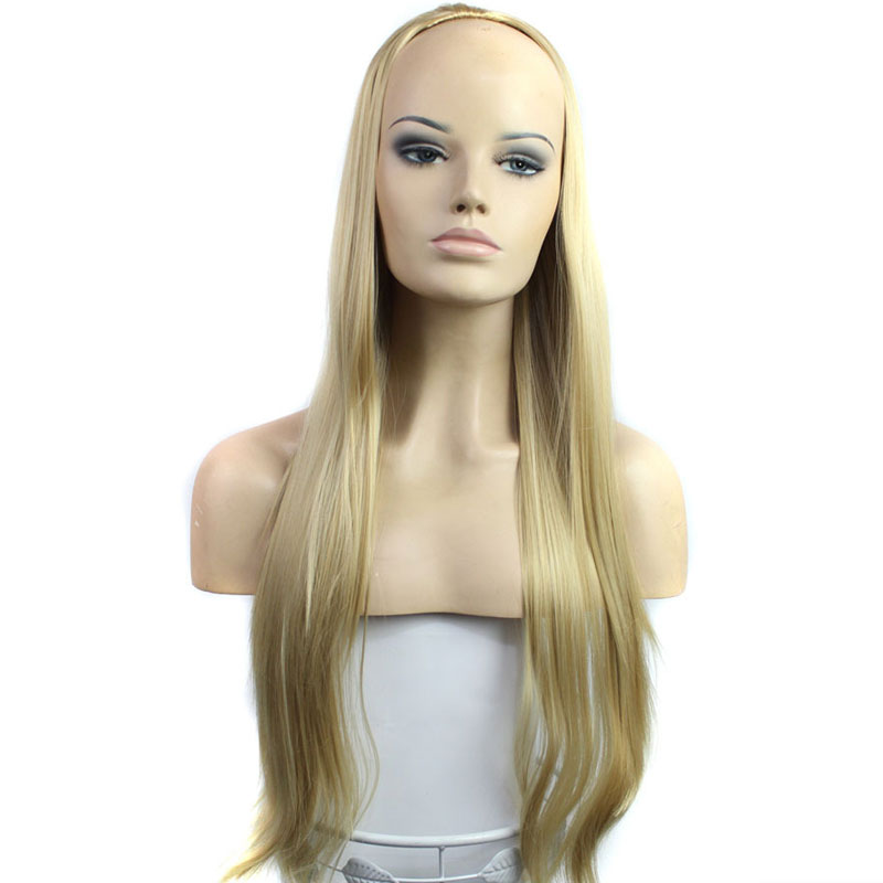 1pcs/30 Cheap Wig Long Straight Synthetic Hair Half Wig For Ladies And Girls Fashion Party Wig Heat Resistant Free Shipping<br><br>Aliexpress