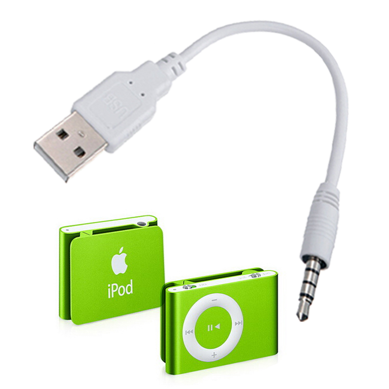 3.5mm usb2.0 charger SYNC Data Cable adapter for Apple ipod shuffle 3rd 4th 5th 6th MP3 / MP4 Player 3.5mm USB Cable Adapter(China (Mainland))