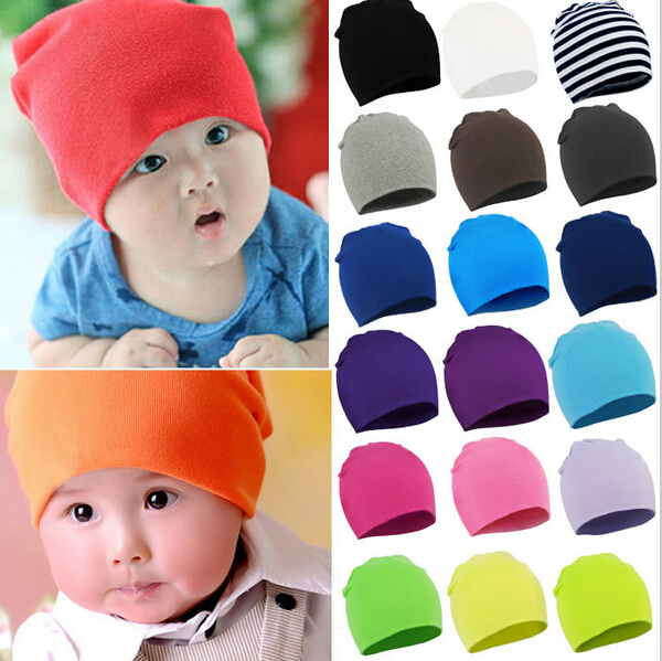 2015 Winter Autumn Spring Cotton Baby Hat Girl Boy Toddler Infant Kids Caps Brand Candy Color Lovely Baby Beanies Accessories(China (Mainland))
