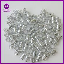 ( 100pcs/bag) Silver Dreadlock Beads Adjustable Hair Braid Cuff Clip for Crochet Jumbo Braiding Havana Twist Hair Extensions(China (Mainland))