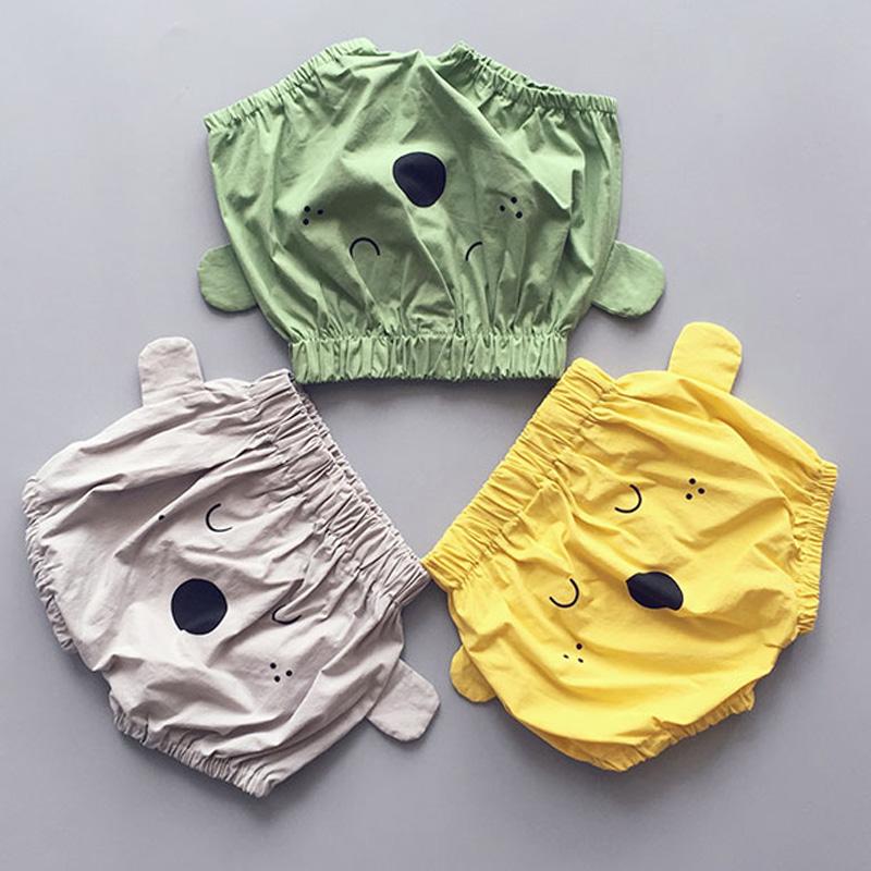 BBK baby pants Summer shorts baby girl Board shorts Cotton green Yellow khaki colour bear Big PP boys pants Beach pant kids(China (Mainland))