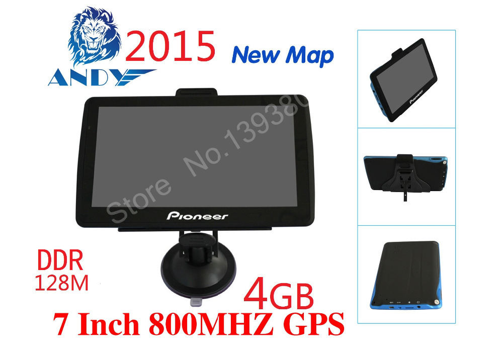 "New 7 ""GPS navigation FM mp3 / mp4 ddr128M North America European Russia CE6.0 4 gb car navigation vehicle navigation(China (Mainland))"