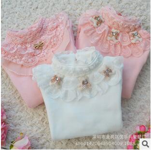 Girls spring fashion T-shirts Big virgin girl summer Bottoming shirt children popular t shirt 100%cotton clothing YF-192(China (Mainland))