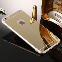 """Buy Luxury Gold Plating Bling Mirror Case iPhone 7/7 Plus 4.7"""" 5.5"""" Back Cover iPhone7 Plus Shinning Soft TPU Phone Case for $1.39 in AliExpress store"""