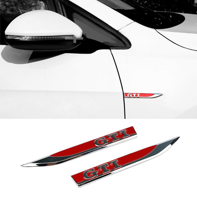 For VOLKSWAGEN VW Golf 6 Golf 7 MK4 MK5 MK6 MK7 GTI 7 POLO Car Emblem Side Fender Red Decorative Standard Stickers Car Styling(China (Mainland))