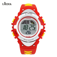 Wholesale Price New Student Style Muti Function LCD Screen Boy Digital Sports Watch Round Dail Kids