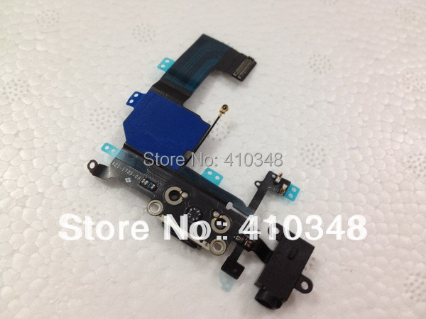 5pcs/lot 100% original new Headphone Audio Jack Dock Charger Connector Flex Cable Ribbon for iphone 5C free shipping(China (Mainland))