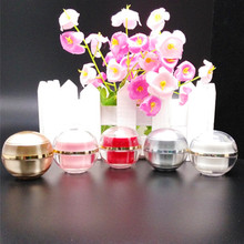 10High-end 5 g plastic cosmetics jar, 5g ball shape sample empty jar ,plastic small cosmetic jars - Fashionable Beauty Packaging store