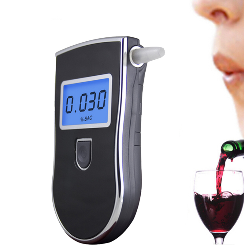 Portable Digital Breath Alcohol Tester Breathalyzer Driving Detector Breathing Wine Measuring Device(China (Mainland))