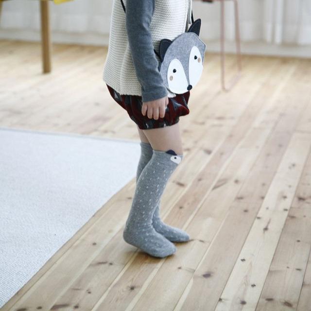 Высокое качество прекрасный 3D фокс носок ребенок гетры носки для детей мальчики ...