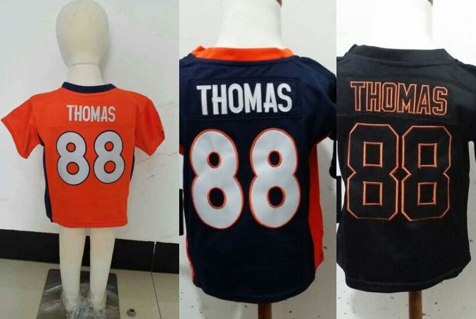 Toddler/Baby/Infant/Boys/Kids Football Jersey Denver #88 Demaryius Thomas Orange Black Navy Blue Jersey,2T-5T years old,Stitched(China (Mainland))