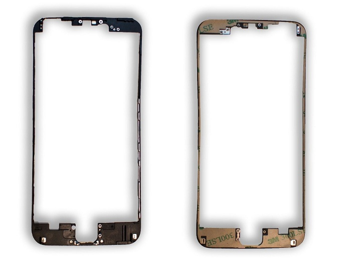 "for iPhone 6 plus 5.5"" LCD Middle Frame Housing Parts Front Bezel with 3M Glue 20pcs/lot Black/White with SG(China (Mainland))"