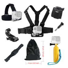 Buy Gopro hero 4 5 Accessories set Floating Chest Head Hand Helmet Mount strap Go pro SJCAM SJ4000 SJ5000X Action camera 52 for $8.64 in AliExpress store