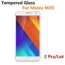 2 Pcs Premium Tempered Glass Screen Protector For MEIZU MX4 Pro MX5 Pro5 protective film For