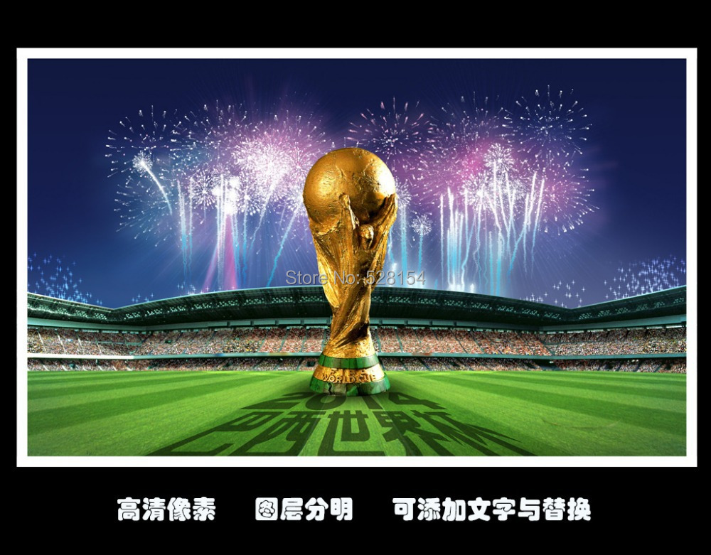 Free shipping Hot Sale High Quality 2014 Brazil World Cup Official Weight size 5 Laminated Soccer ball football for training(China (Mainland))