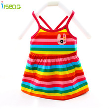 2 Colors Summer Baby Girl Dresses Cotton One Piece Dress Cartoon Striped Kids Clothes Girl Petticoat Robe Fille Enfant BD002