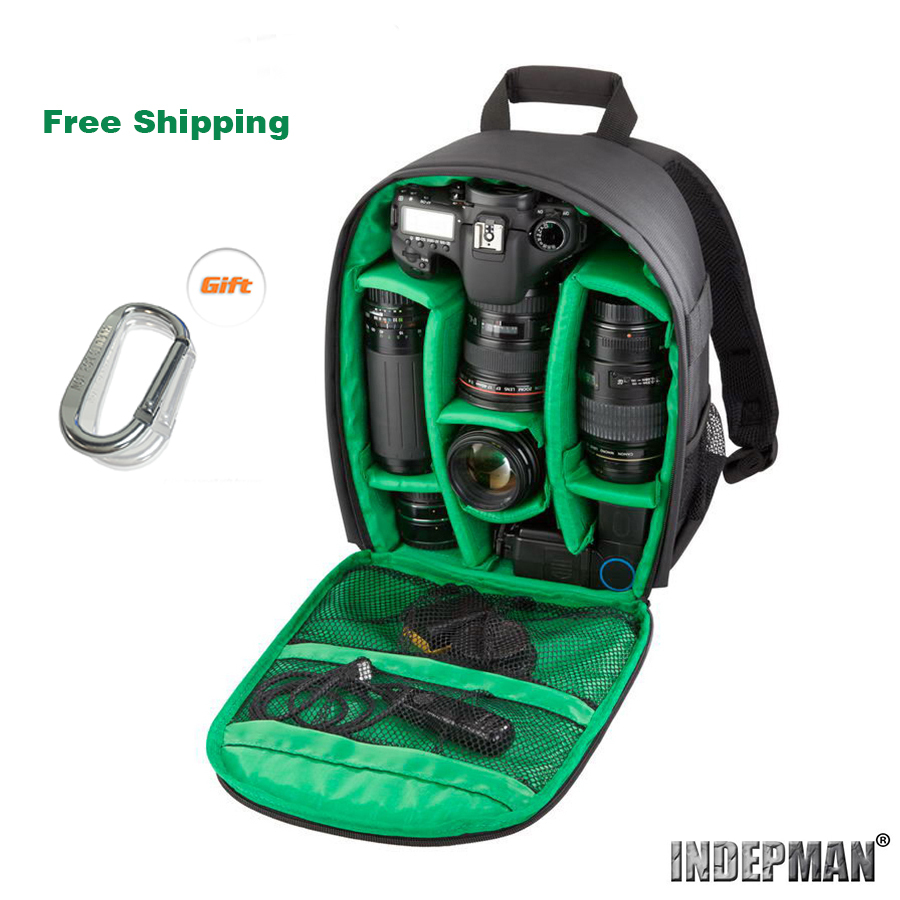 2015 good quality top sell new style fashion waterproof multifunctional YKK zipper DSLR bag camera backpack free shipping(China (Mainland))