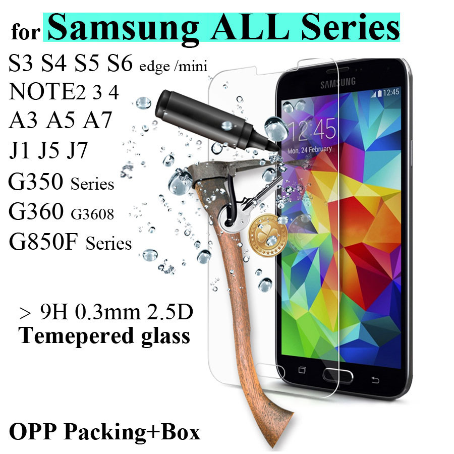 9H 0 3mm Ultra Thin Real Premium Tempered Glass Film 2 5D Screen Protector For Samsung