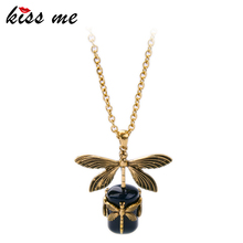 Buy KISS ME Latest Gold Color Alloy Dragonfly Pendant Necklace Long Sweater Chain Necklace Women Retro Accessories for $2.24 in AliExpress store