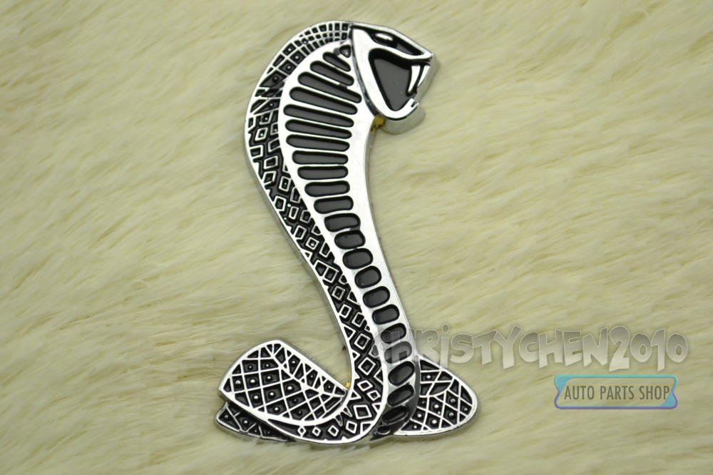 Mustang Metal Boot Car Emblem Sticker Shelby Mustang Cobra Super Snake Trunk Side Wing Car Auto Badge Sticker 122(China (Mainland))