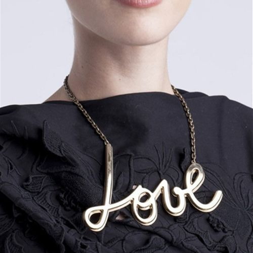 Fashion Shiny Plated Letter Word LOVE HAPPY HELP Choker Chain Necklace Pendant(China (Mainland))