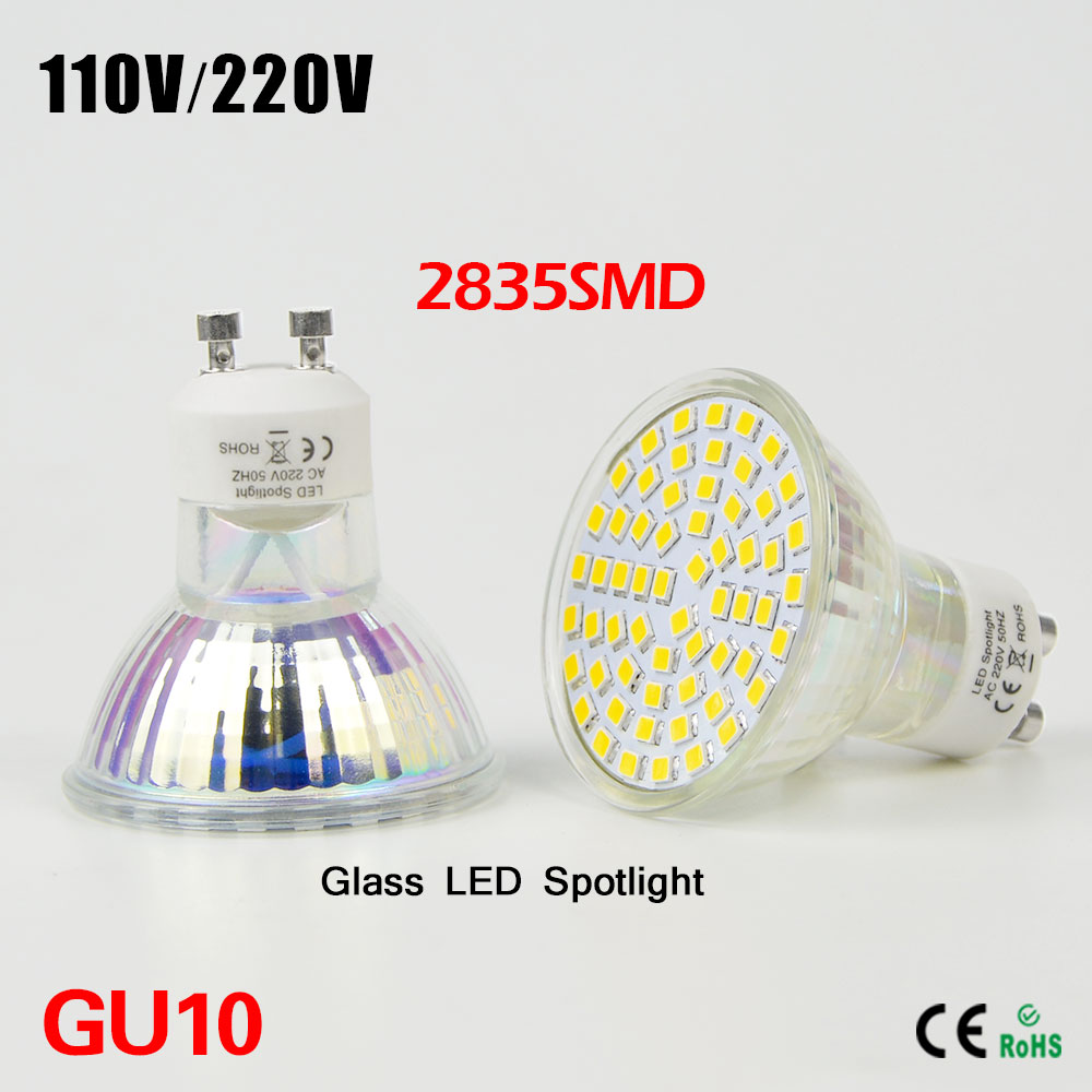 1Pcs GU10 LED Bulbs Light 7W 220V SMD 2835 60LEDs 600-650LM Spotlights Warm/Cool White LED Downlight(China (Mainland))