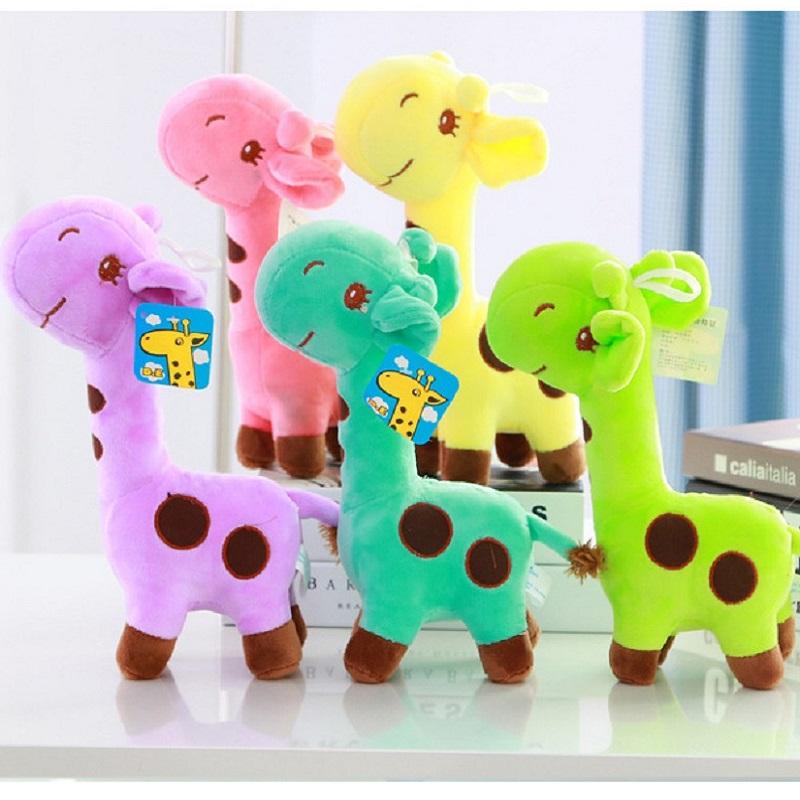 25cm Large Plush Giraffe Stuffed Animal Kids Toys 5Colors Christmas Birthday Gift For Girls#ML0108(China (Mainland))