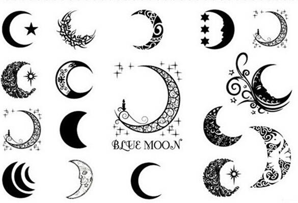 Plantillas de tatuajes de lunas y estrellas - Imagui