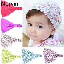 Buy Norvin Retain Flower Dot Hair Accessories Kids Girls Headband 6 Colors Kids Scarf Headbands Turban Cotton Hair Bands KT031 for $1.00 in AliExpress store