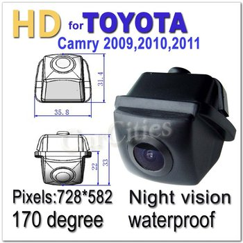 CCD HD rearview camera170 degree for Toyota Camry 2009,2010,2011 Waterproof  shockproof Night version car camera drop shiping