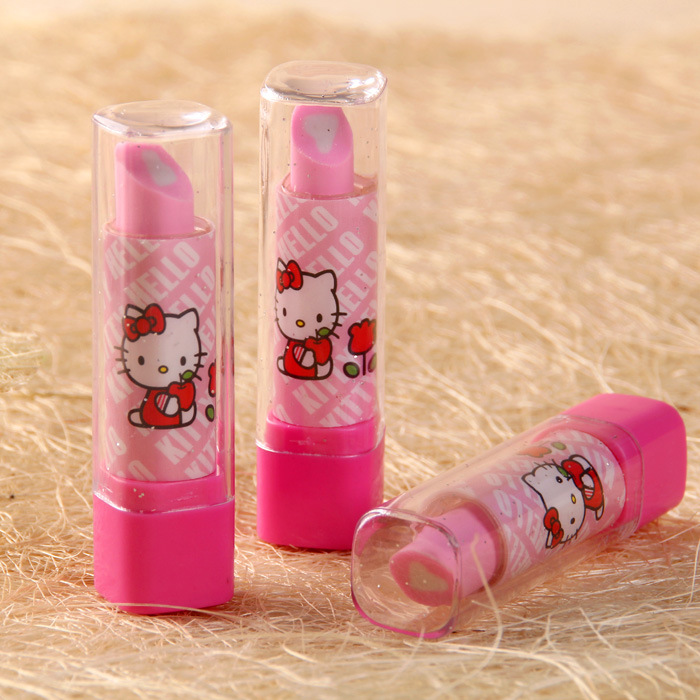 Retail-B 1pc Novelty Rubber Pencil Eraser for Kids Students Stationery Lipstick Shaped FS(China (Mainland))