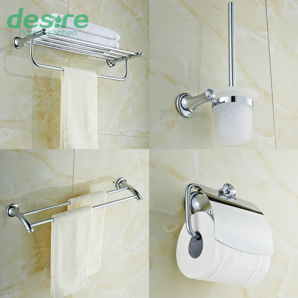 Bathroom rack set shop for doyours online brushed brass for Toilet accessories sale