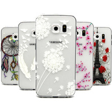 Ultra Thin Clear Cartoon Soft Silicone Case Cover for Samsung Galaxy S6 Edge G925 Mobile Phone Cases accessories