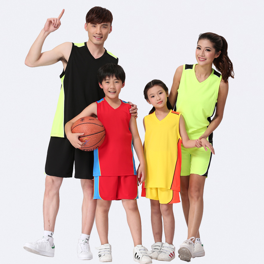 New Customized Kids Basketball Jersey Short Set High Quality College Mens Adults Wear Training Sports Authentic Children Jersey(China (Mainland))