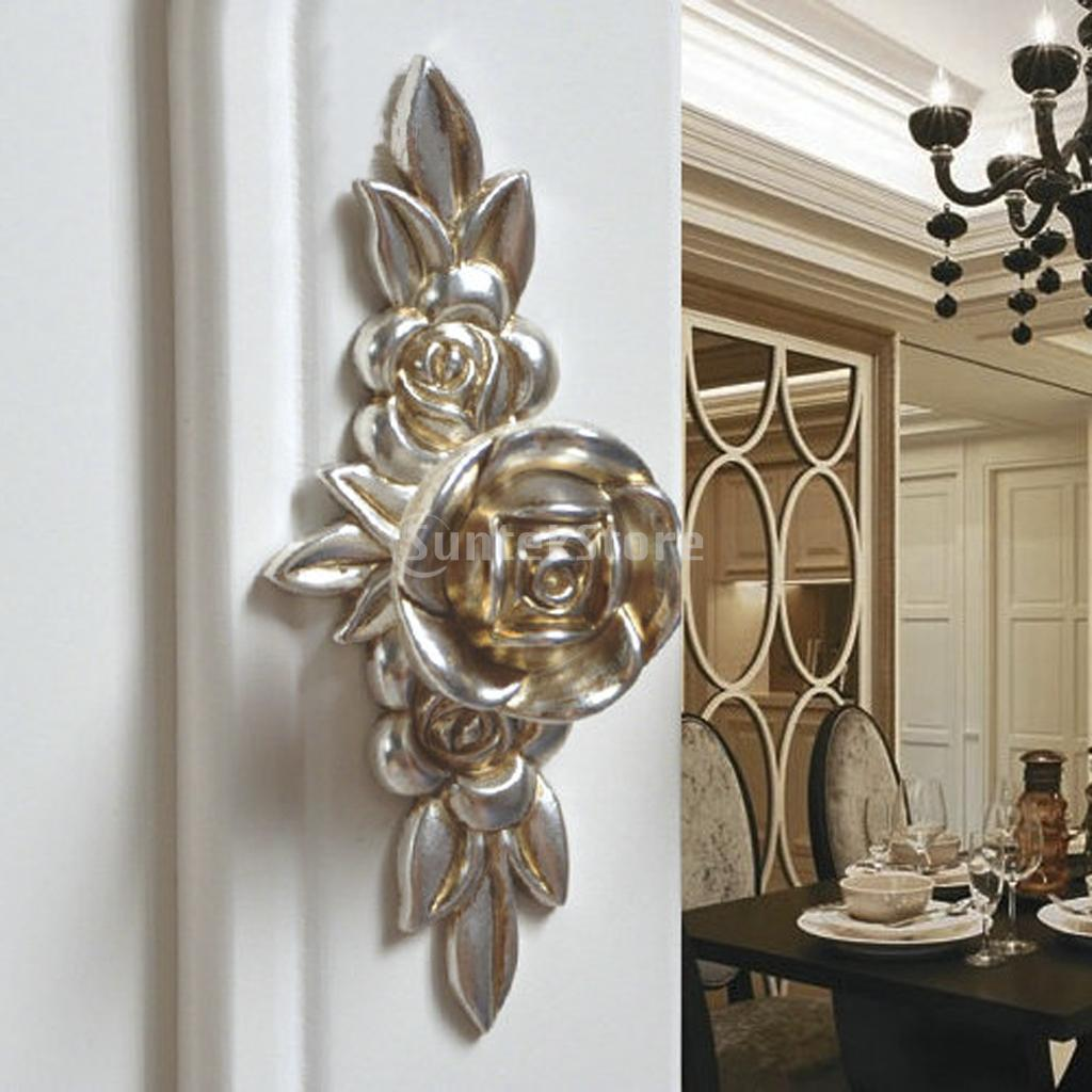 New 2014 Brand New Antique Silver Rose Cabinet Drawer Furniture Door knob Handle Pull Hardware 103mm Free Shipping(China (Mainland))