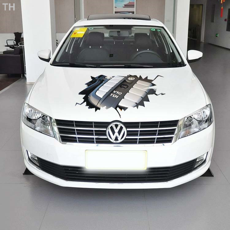 90*53cm engine hood stickers peugeot 206 audi a4 golf 7 mazda cx-5 vw opel volvo astra parking citroen c4 variety of cars :)(China (Mainland))