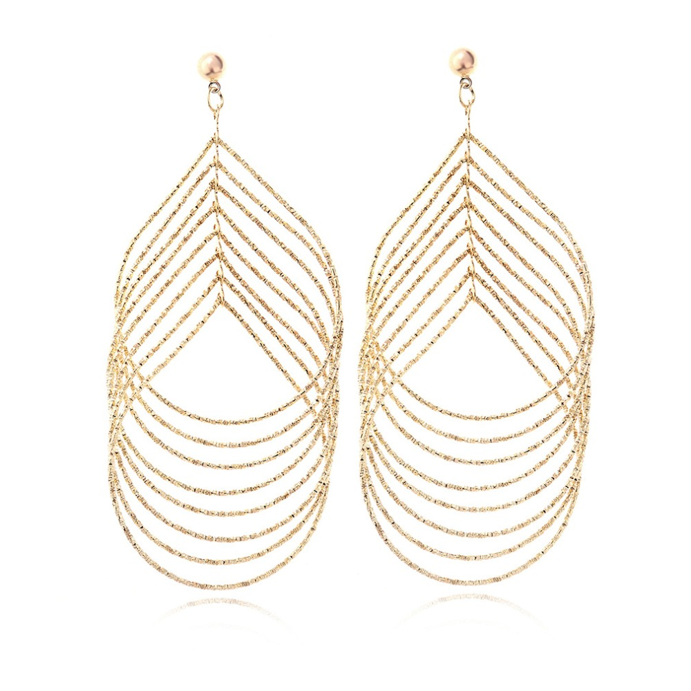 Top Quality 18K Real Gold Plated Hip Hop Hoop Earrings Large Diameter Multiple Big Hoop Fashion Jewelry Wedding Gifts(China (Mainland))