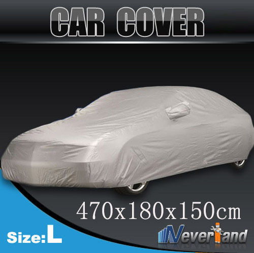 Hot sale Size L Outdoor Full Car Cover Sun UV Snow Dust Resistant Protection Car Covers Free shipping(China (Mainland))