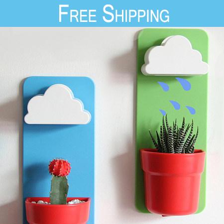 Shipping!Creative Flower Pots Planters Rain Clouds Rainy Pot/Rainy Pot ...
