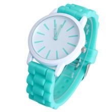 New Fashion Designer Geneva Ladies sports brand silicone watch jelly watch 17 colors quartz watch for