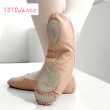 Buy Brand New Leather Ballet Dance Shoes Professional Soft Women Ballet Shoes Split Sole Pink black Wholesale 5305 for $14.90 in AliExpress store