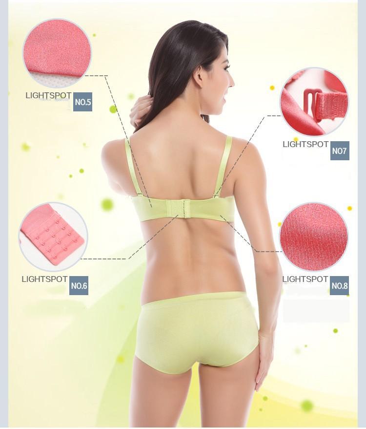 DeRuiLaDy Women Bra Plus Size C Cup Sexy Lingerie Super Push Up Bra High Quality Seamless Underwear Brassiere Half C Cup Bras