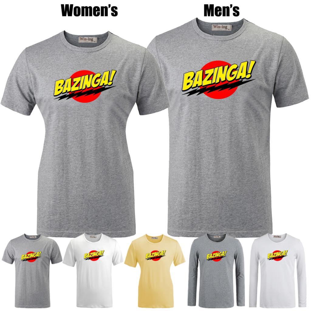 Bazinga Big Bang Theory Sheldon Cooper Pattern Printed T-Shirt Women's Girls Graphic Tee Tops Grey Yellow White(China (Mainland))