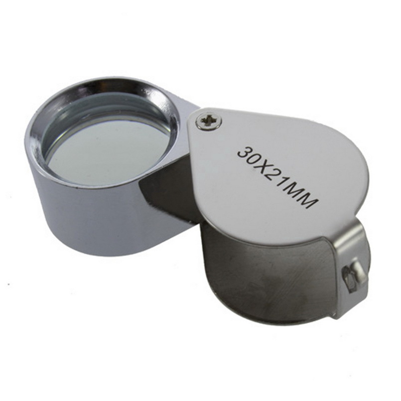 1pc 2016 Hot Search Mini 30x 30x21mm Loupe Magnifier Magnifying Triplet Jewelers Eye Glass Jewelry Diamond Free Shipping